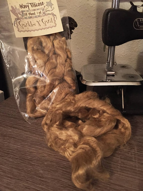 SALE! Doll Hair: Wavy Viscose Dark Blonde 1 yd.