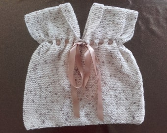 Size newborn-3 months wool dress handmade
