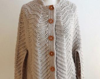 Ripple Cape Crochet Pattern PDF