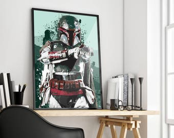 Boba Fett | Star Wars | Bounty Hunter | Poster Print Design | A0 A1 A2 A3 A4