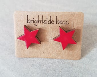 Coloured Star Studs | 12 mm | Stainless Surgical Steel Posts