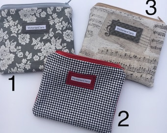 Zipped Pouches / Cosmetic /Pencil Case  /Purse Insert