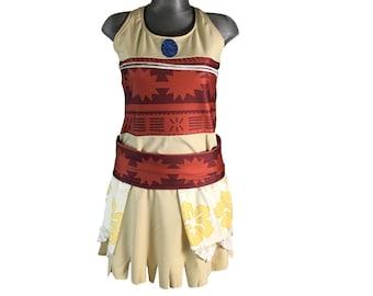 Disney Moana inspired running costume- shirt  and skirt running costume