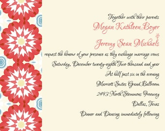 Geometric, Starburst, Wedding Invitations, Kraft Paper, Party Invitation, Bridal Shower, Engagement, Rehearsal Dinner, Save the Date, RSVP