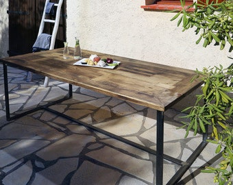 Table Nadine 180 x 96cm with steel support