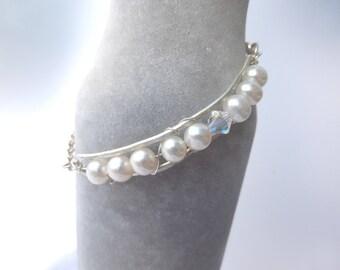 Sterling silver fresh water pearl bracelet