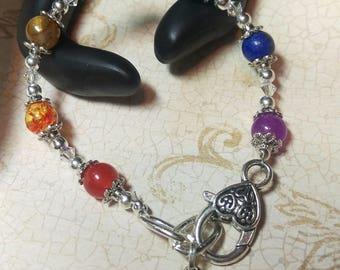 Swarovski Chakra Heart Bracelet