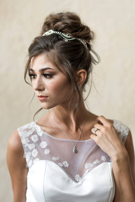 Bridal Headpiece, Head Chain, Bridal Hair Chain, Rhinestone Head Chain, Flapper Headpiece, Halo Hair Chain, Great Gatsby Hairpiece CHERISA