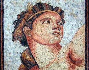 "Michelangelo "" David Bust "" - Mosaic Reproduction"