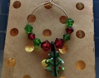 Christmas Tree Wine Glass Charms!