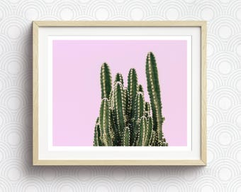 Living Room Decor, Cacti, Cactus Decor, Pink And Green, Southwestern Decor, PRINTABLE Art, Kitchen Decor, Cactus Wall Art, Bedroom Wall Art