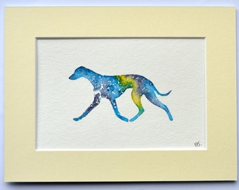 Whippet - Trotting Silhouette