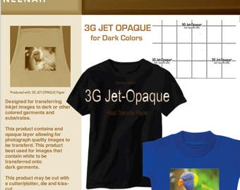 Neenah 3G Inkjet Heat Transfer Paper for Dark or Light Colors 8.5x11 (5 Sheets)