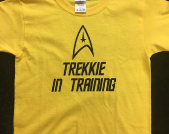 Star Trek Inspired Trekkie In Training T-shirt - Infants thru Youth Sizes Available!