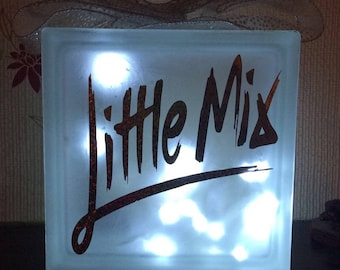 Little mix glass block with lights