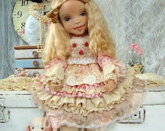 textile doll rose