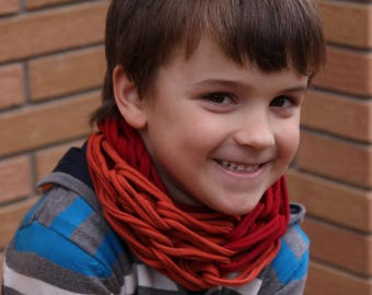 Scarf Infinity Bandana for boys and girls, soft and easy to wear, in cheerful colors