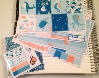 Under the Sea **Mini Weekly Planner Sticker Kit** (150 Stickers)