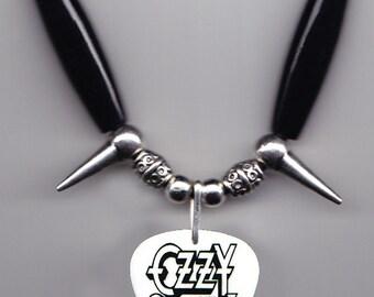 Ozzy Osbourne Photo Guitar Pick Necklace - 2016 Black Sabbath