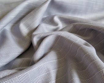 Gray Optical Print Cotton Lightweight Twill