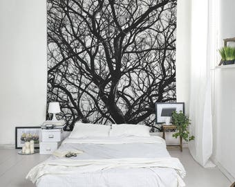 Tree Branch Tapestry, Bohemian Tapestry, Black And White, Wall Decoration, Bedroom Decor, Wall Art Tapestries. MG035