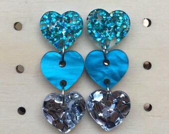 Triple heart dangles