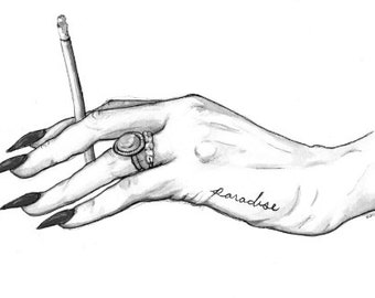 Lana Del Rey Hand Print