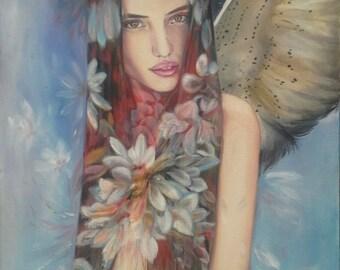 Flower Heart original oil painting