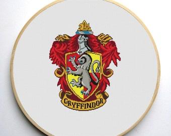 Gryffindor Crest 2 - Harry Potter Cross stitch pattern PDF Instant Download