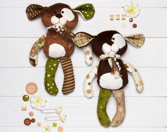 Organic plush toy dog Personalized gift for kids toddler eco toy dog for baby  Home pet soft kids bedding Soft toy for baby cute puppy dog