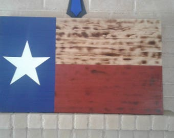 Handcrafted Rustic Texas Flag