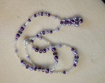 Design sheet for beaded pearl pendant and necklace