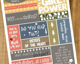 HeartGramz Doodle Art - Printable Camp Stickers - Sheet 2