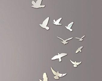 Mirror Wall Art Flying Birds
