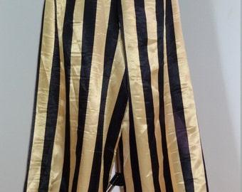 harem pants black & gold stripes