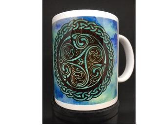 Celtic Spiral design mug