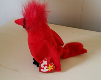 Cardinal Bird Beanie baby, Vintage Red Bird, Stuffed Bird, Collectible Bird Beanie,Plush Toy, Plush Bird Beanie, Soft Bird, Birthday Gift.