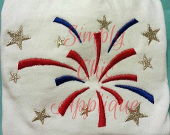 Instant Download Satin Stitch Fireworks - For the 4x4 Multi-Position Hoop