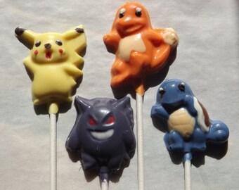 Pokemon Characters Chocolate Lollipops
