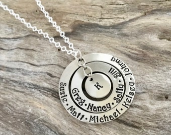 Personalized Necklace For Mom Stamped With Kids Names | Mommy Necklace | Gift For Mom