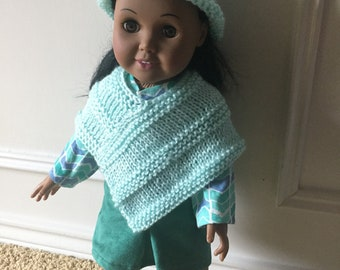 "Mini skirt and poncho for 18"" doll"