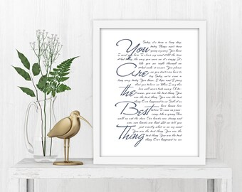 Framed Wedding Vows, Vows on Canvas, Anniversary, Gift, His and Hers, Print, 1st Year, First, Romantic, Gifts for her, Gifts for wife
