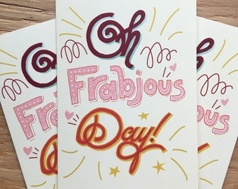 Oh Frabjous Day set of three greeting cards