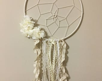 Tan flower dream catcher