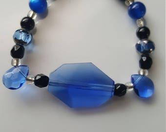 Sapphire Blue glass bracelet