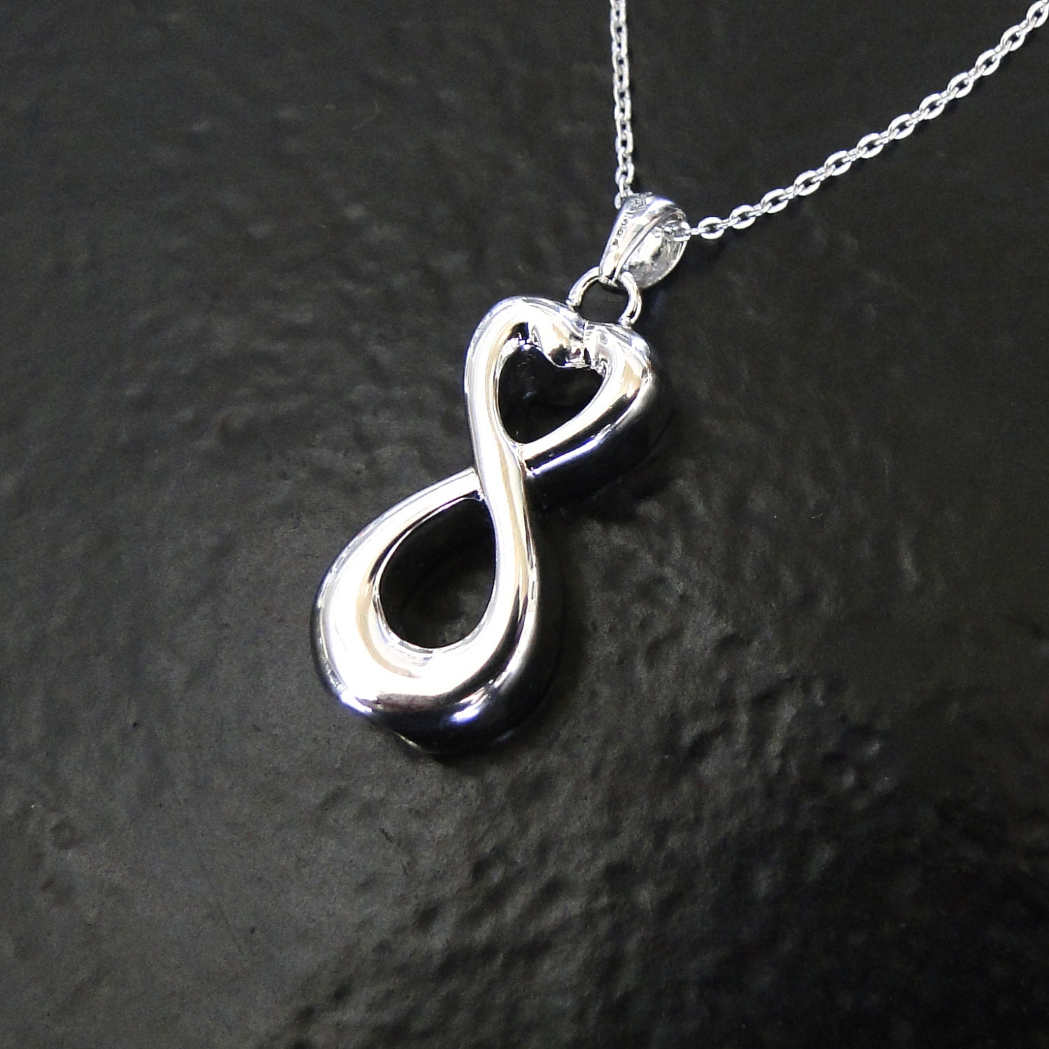 Ashes necklace infinity container for ashes sterling silver zoom mozeypictures Images