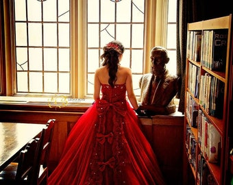 Crimson Jewel... An Unforgettable Princess Style Ball Gown