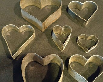Vintage Heart Cookie Cutters