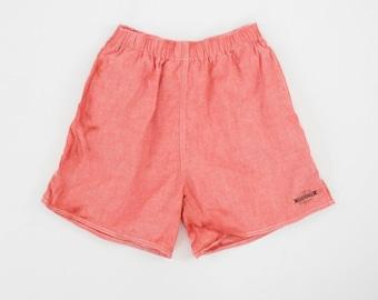 Vintage 90s Shorts - Coca Cola - Red - Soda - Small - Medium - Elastic Waist