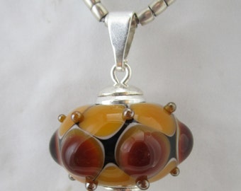 Pendant with Pearl Topaz-colored